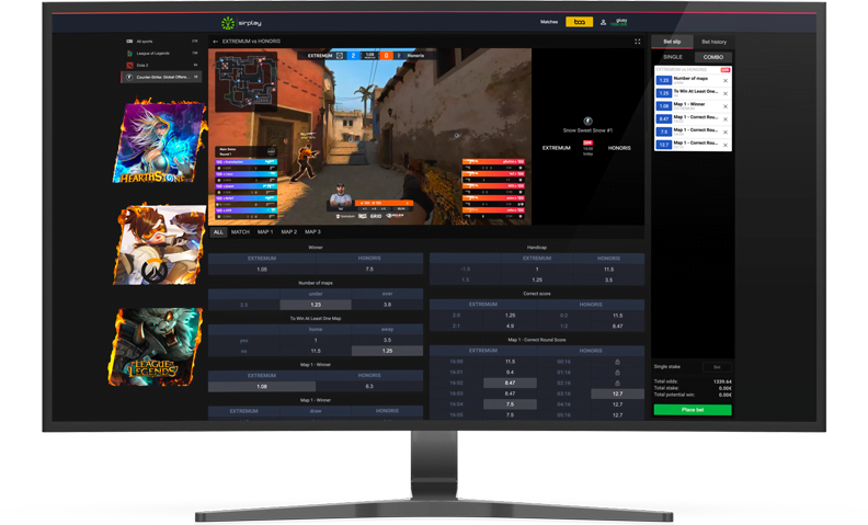 esports betting software demo